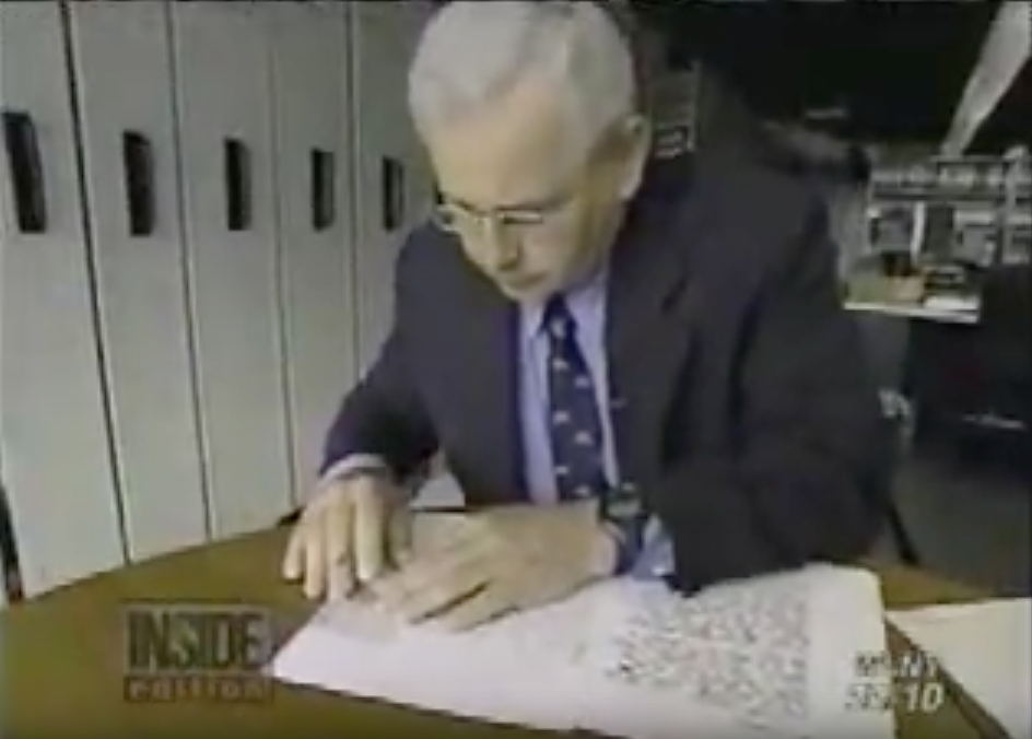 Bob Baier Forensic Handwriting Expert on Inside Edition